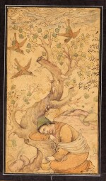 A FORLORN MENDICANT, PERSIA, SAFAVID, 17TH CENTURY