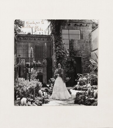 View 2. Thumbnail of Lot 35. Gisèle Freund | Frida Kahlo in her Garden of Casa Azul, Mexico, 1948.