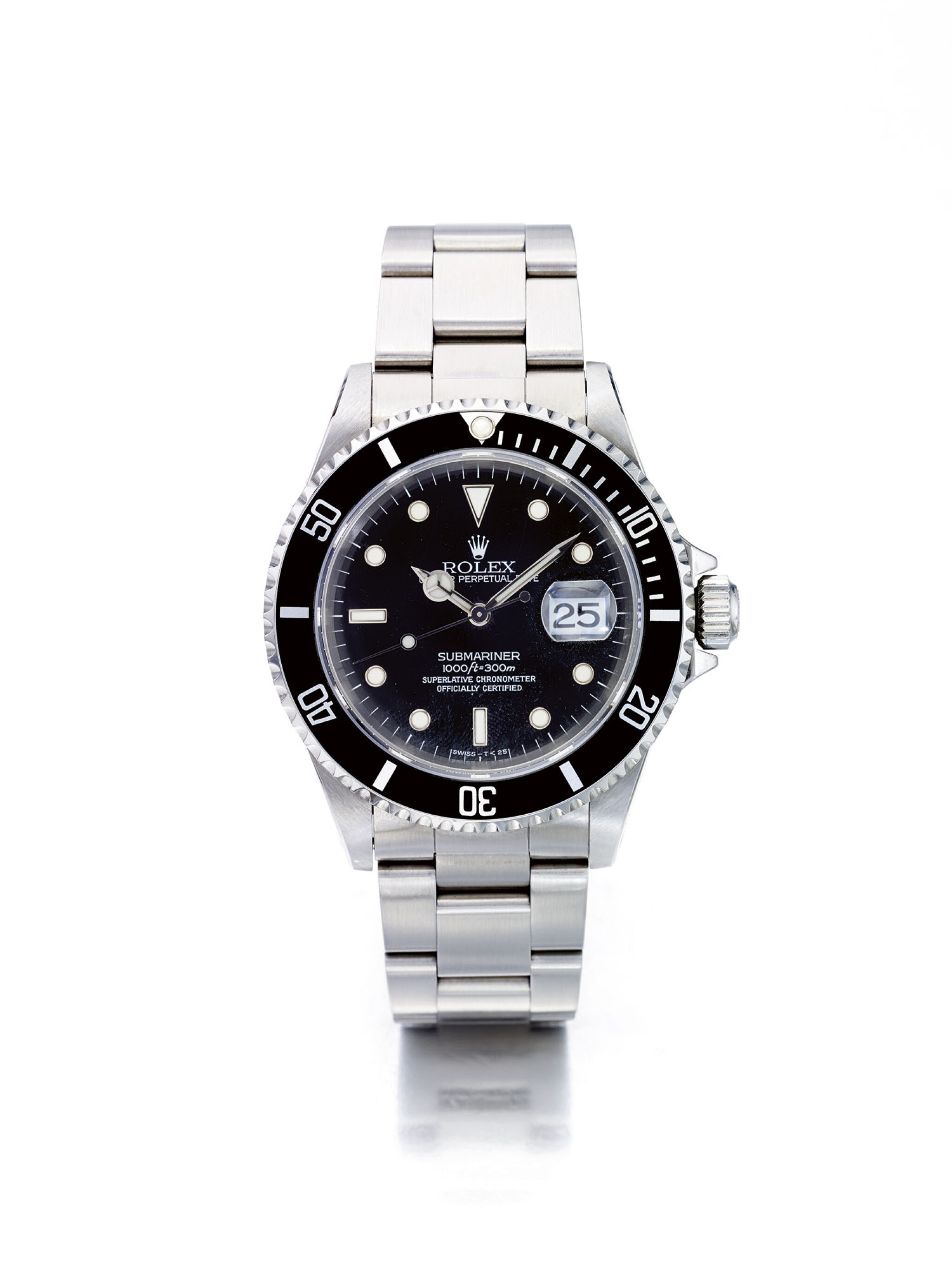 View full screen - View 1 of Lot 15. ROLEX | SUBMARINER REF 16610, A STAINLESS STEEL AUTOMATIC CENTER SECONDS WRISTWATCH WITH BRACELET CIRCA 1994.