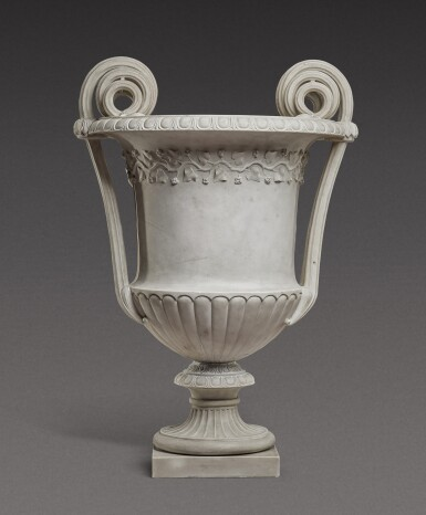 View 1. Thumbnail of Lot 168. An Italian neoclassical carved marble vase, Rome, late 18th century/early 19th century.