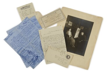 CATHER, WILLA, AND EDITH LEWIS | A small archive of letters, photographs, and other items relating to Cather and Lewis