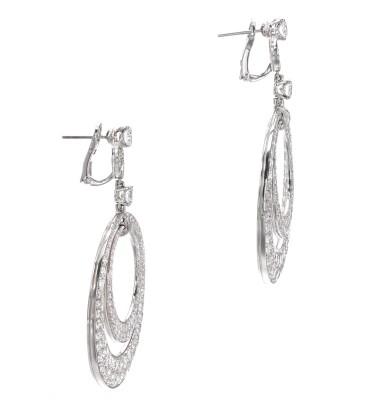 View 2. Thumbnail of Lot 631. Graff | Pair of diamond pendent earrings | 格拉夫 | 鑽石耳墜一對.