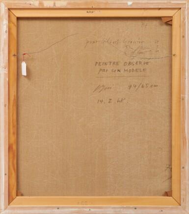 View 3. Thumbnail of Lot 88. Peintre observé par son modèle, 1968.