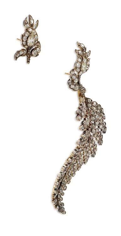 View 4. Thumbnail of Lot 1410. ELIANE FATTAL   'FERN' PAIR OF DIAMOND EARRINGS   Eliane Fattal   'Fern' 鑽石耳環一對.