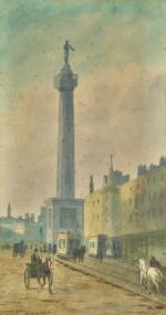 DOUGLAS ALEXANDER, R.H.A.  |  OLD DUBLIN (NELSON'S PILLAR, O'CONNELL STREET)