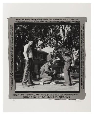 View 1. Thumbnail of Lot 45. JANETTE BECKMAN | RUN DMC, 1984, Hollis, Queens (Silver Border). Silkscreen. 2017..