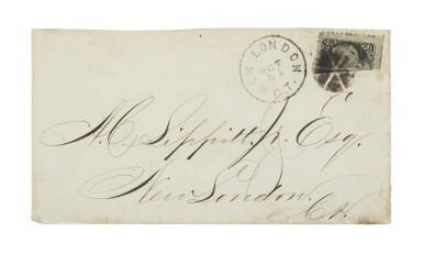 1861-66 2c Black Horizontal Bisect (73c)