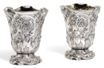 ROYAL. A PAIR OF GERMAN SILVER BEAKERS, UNMARKED, PROBABLY BERLIN, CIRCA 1860