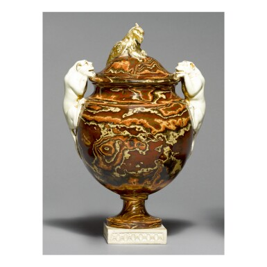 A WEDGWOOD AND BENTLEY SOLID AGATE VASE AND COVER CIRCA 1770-75