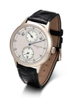 PATEK PHILIPPE | REFERENCE 5235 A WHITE GOLD ANNUAL CALENDAR WRISTWATCH WITH REGULATOR DIAL, CIRCA 2017