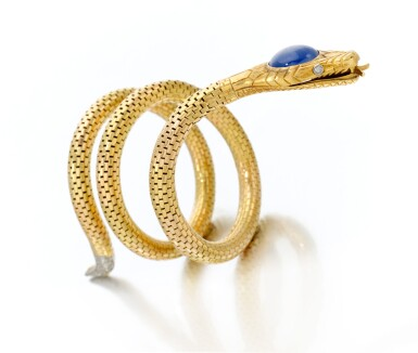 View 1 of Lot 18. Sapphire and diamond bracelet (Bracciale con zaffiro e diamanti), 1920     .