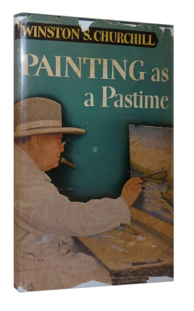 View 2. Thumbnail of Lot 73. Winston S. Churchill | Painting as a Pastime. London: Odhams Press, 1950.