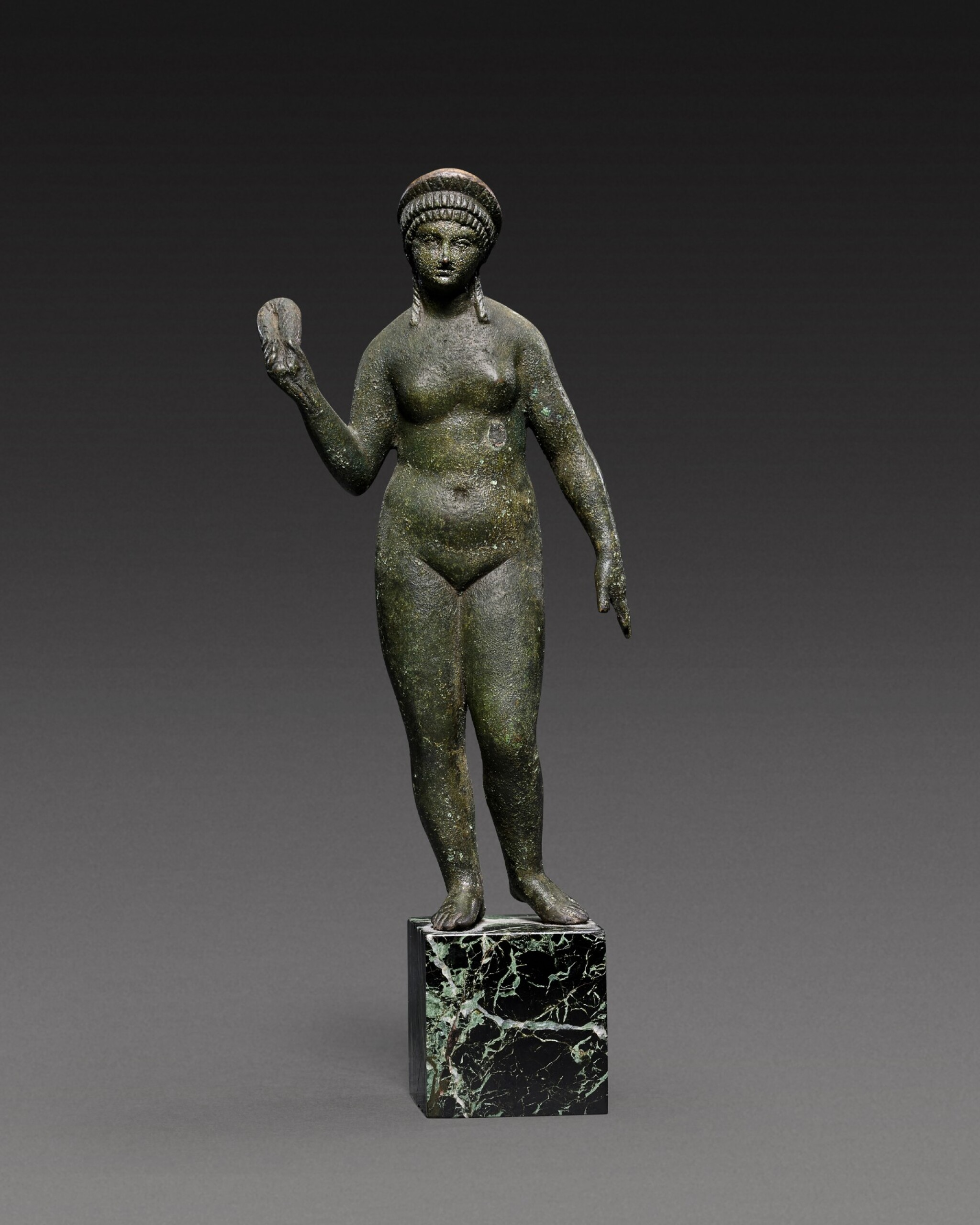 View full screen - View 1 of Lot 49. A Roman Bronze Figure of Aphrodite, circa 2nd Century A.D..