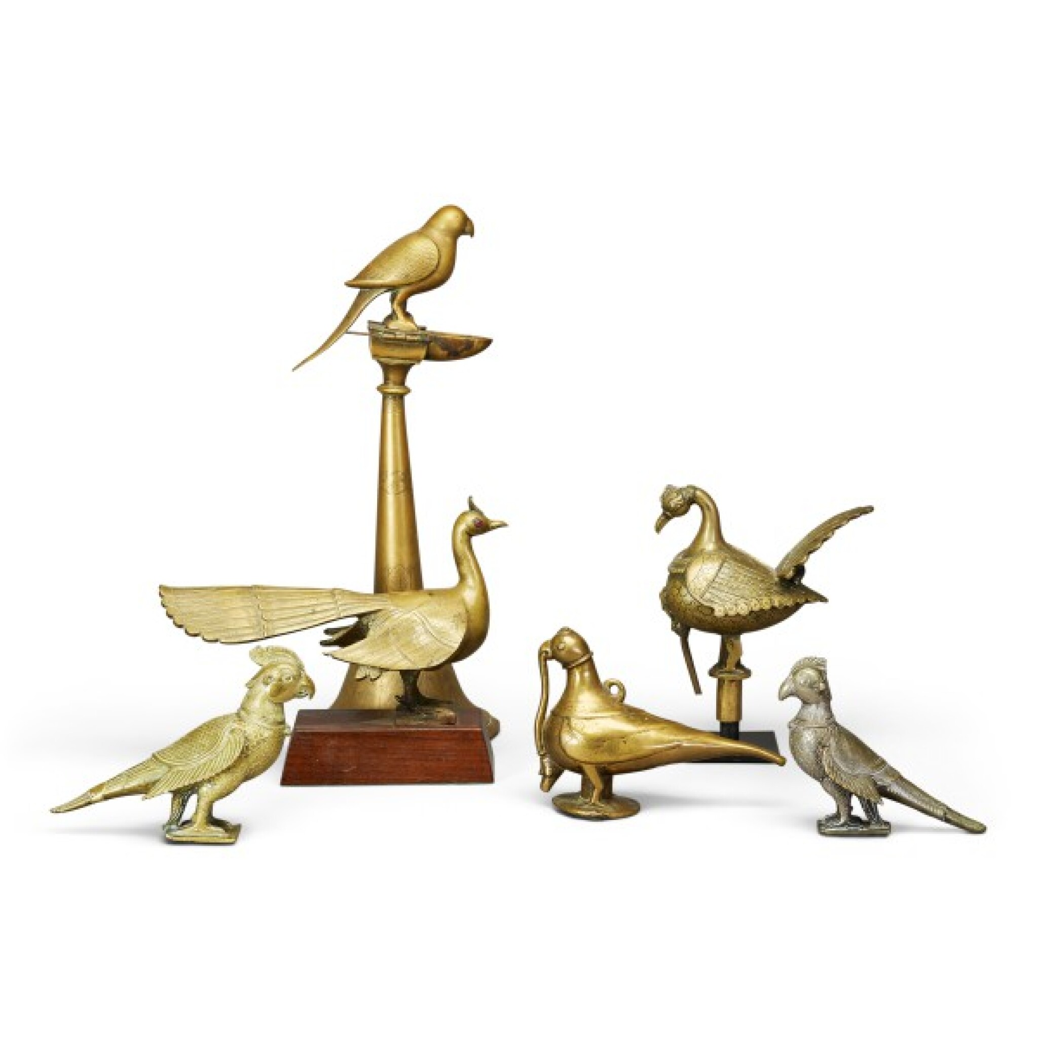 View full screen - View 1 of Lot 28. India, 17th/18th century   Six Models of Birds.