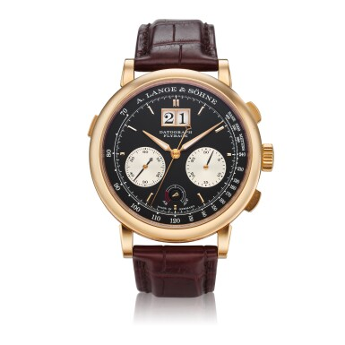 View 1. Thumbnail of Lot 292. Reference 405.031F Datograph Up/Down  A pink gold flyback chronograph wristwatch with date, Circa 2014.