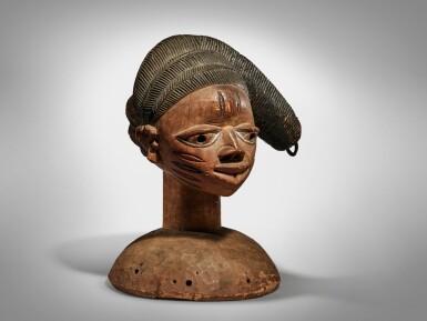 View 2. Thumbnail of Lot 69. Yoruba Headdress, Nigeria.