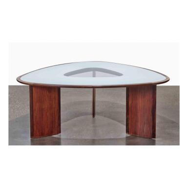 "View 1. Thumbnail of Lot 110. A Rare ""Mesa Triangular"" Table."