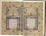 A LARGE AND FINELY-ILLUMINATED QUR'AN, COPIED BY MUHAMMAD SHAFI' B. 'ALI ASKAR AL-ARSANJANI, THE ILLUMINATION ATTRIBUTED TO REZA SANI' HUMAYUN, PERSIA, QAJAR, DATED 1283 AH/1866-67 AD