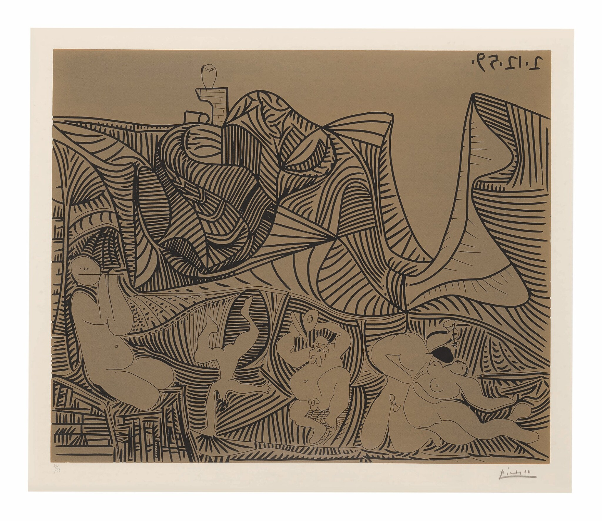 View full screen - View 1 of Lot 27. PABLO PICASSO | BACCHANALE AU HIBOU (B. 938; BA. 1265).