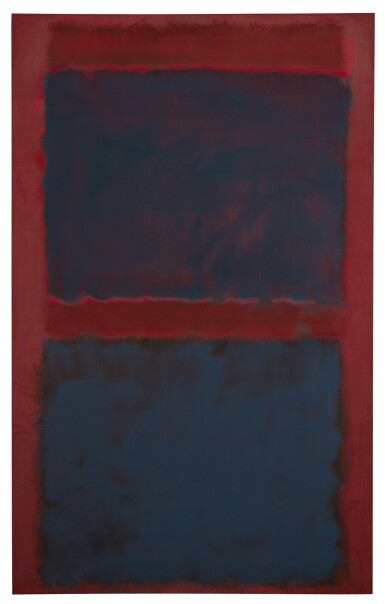 MARK ROTHKO | UNTITLED (BLACK ON MAROON)