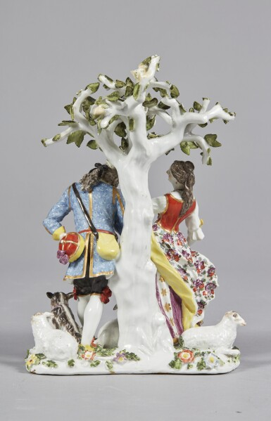 View 4. Thumbnail of Lot 232. A MEISSEN FIGURE GROUP, 'THE HAND KISS' CIRCA 1738-40.
