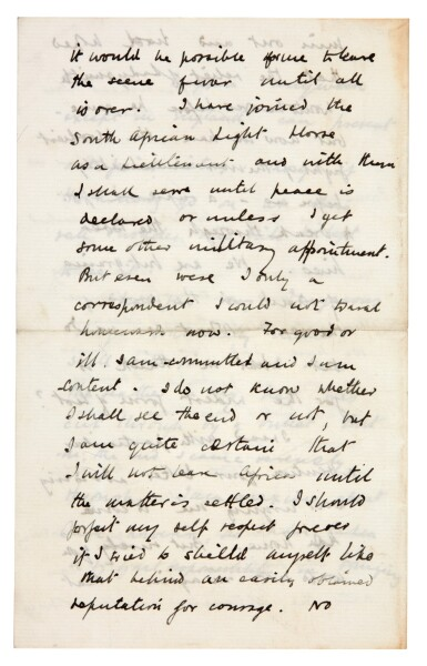 View 3. Thumbnail of Lot 26. CHURCHILL | autograph letter signed, to Pamela Plowden, 1900.