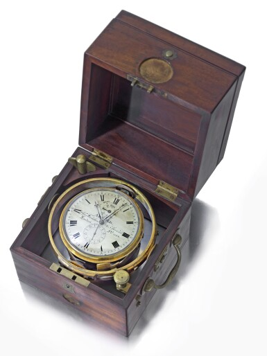 ARNOLD AND CHARLES FRODSHAM & CO. | A SMALL MAHOGANY AND BRASS TWO DAY MARINE CHRONOMETER NO 2014 CIRCA 1830