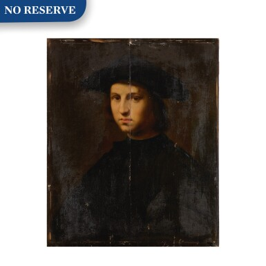 View 1. Thumbnail of Lot 12. Portrait of a young man in black.