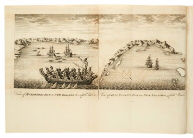View 3. Thumbnail of Lot 43. DALRYMPLE   An historical collection of the several voyages and discoveries in the South Pacific Ocean, 1770-1771.