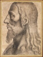 SPANISH SCHOOL, SECOND HALF OF THE 16TH CENTURY | HEAD OF CHRIST IN PROFILE TO THE LEFT
