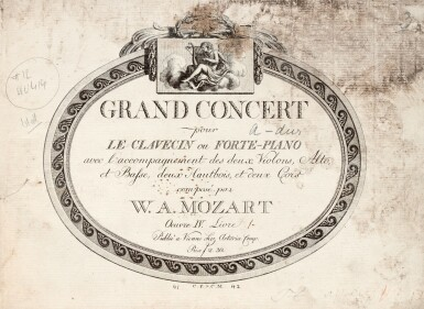 View 2. Thumbnail of Lot 60. W.A. Mozart, Two volumes of first and early editions of the piano concertos etc., C18th and early C19th.