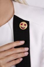 Ruby and diamond brooch, 'Smile', Michele della Valle