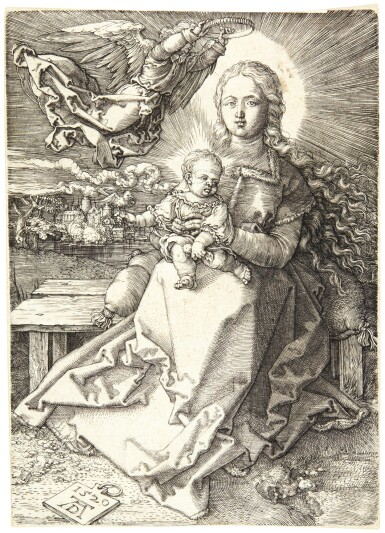 ALBRECHT DÜRER | THE VIRGIN AND CHILD CROWNED BY ONE ANGEL (B. 37; M., HOLL. 41)