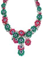 Michele della Valle   Gem set and diamond necklace   Michele della Valle   寶石配鑽石項鏈