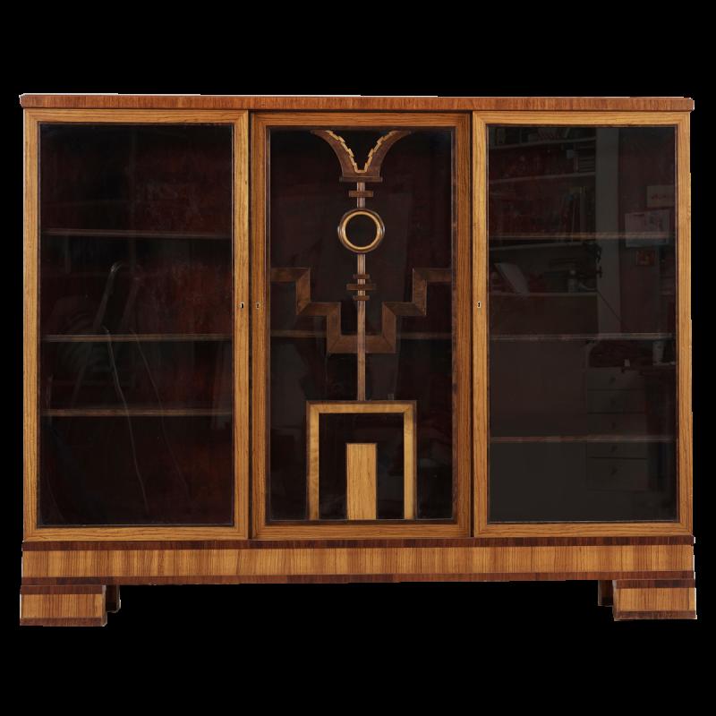 Art Deco Three-Door Vitrine