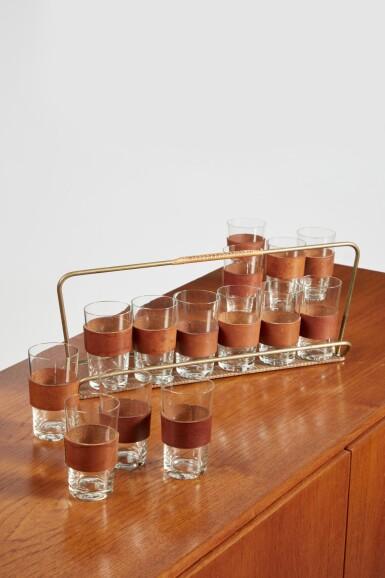 View 2. Thumbnail of Lot 3. Glassware Set.