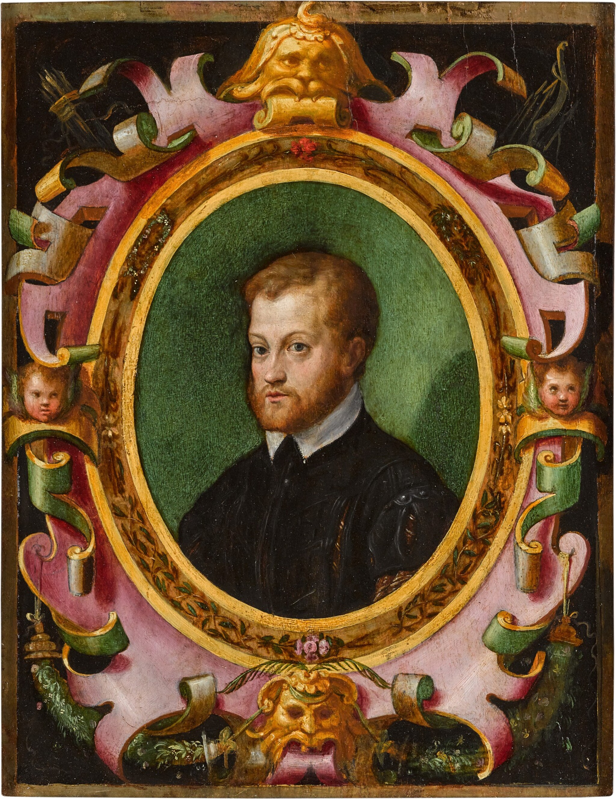 View full screen - View 1 of Lot 48. ANTONIO CAMPI  |  PORTRAIT OF A BEARDED MAN, BUST-LENGTH .