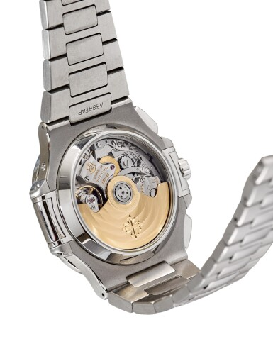 PATEK PHILIPPE | NAUTILUS, REFERENCE 5980 A STAINLESS STEEL FLYBACK CHRONOGRAPH BRACELET WATCH WITH DATE, CIRCA 2012