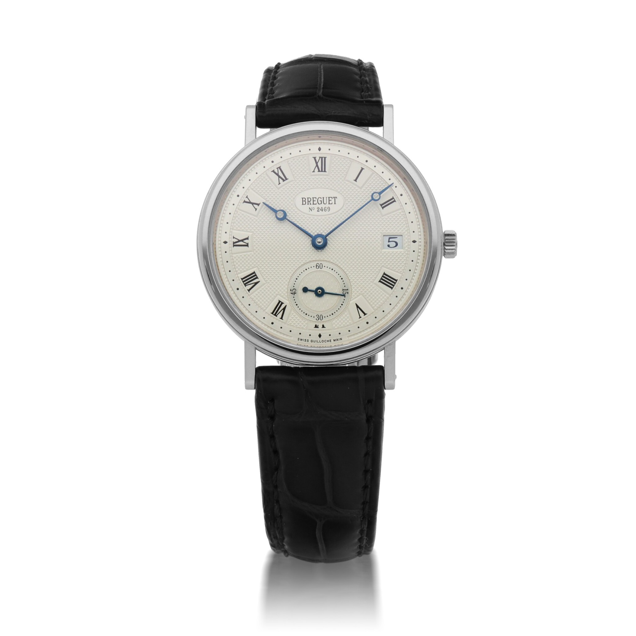 View full screen - View 1 of Lot 430. CLASSIQUE, REF 5920 WHITE GOLD WRISTWATCH WITH DATE CIRCA 2010.