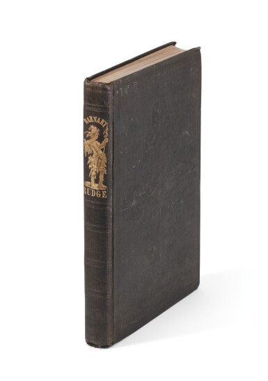 Dickens, Barnaby Rudge, 1842, first American edition, inscribed by Dickens to Morris