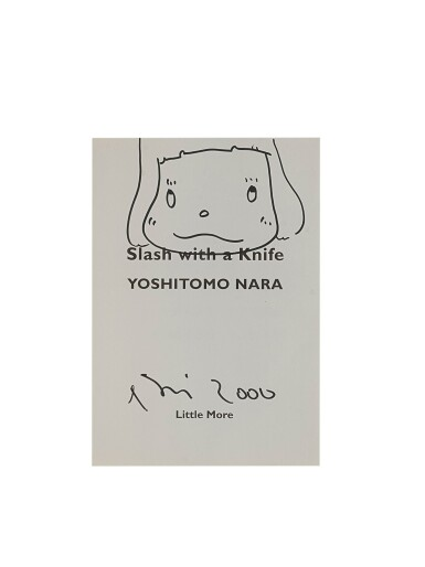 View 1. Thumbnail of Lot 9026. Yoshitomo Nara | 用小刀劃開(女孩)Slash with a Knife (Girl).