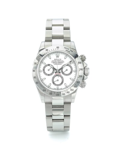 ROLEX | REF 116520 DAYTONA, A STAINLESS STEEL AUTOMATIC CHRONOGRAPH WRISTWATCH WITH BRACELET CIRCA 2007