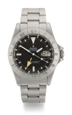 ROLEX   STEVE MCQUEEN EXPLORER II , REFERENCE 1655, STAINLESS STEEL DUAL-TIME WRISTWATCH WITH DATE AND BRACELET, CIRCA 1984