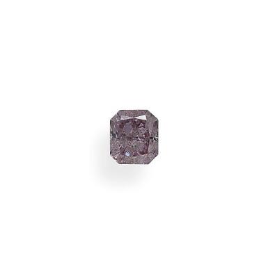 A 0.51 Carat Fancy Purplish Pink Cut-Cornered Rectangular Modified Brilliant-Cut Diamond