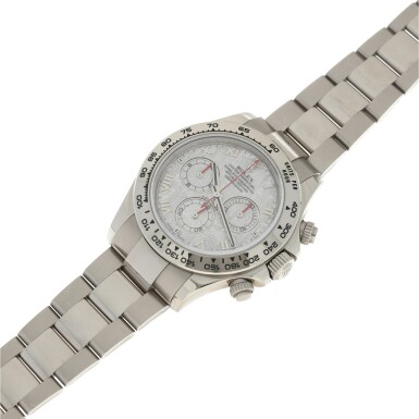 View 6. Thumbnail of Lot 8. REFERENCE 116509 DAYTONA A WHITE GOLD AUTOMATIC CHRONOGRAPH WRISTWATCH WITH METEORITE DIAL AND BRACELET, CIRCA 2003.