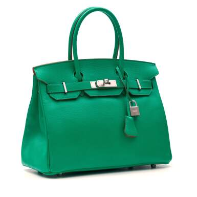 View 2. Thumbnail of Lot 346. Menthe Birkin 30cm in Chèvre Mysore Leather with Palladium Hardware, 2013.