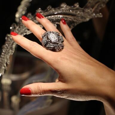 View 8. Thumbnail of Lot 11. Elie Top, Gem-Set, Diamond and Chrysoprase Ring [Bague Pierres de Couleur, Diamants et Chrysoprase], 'Eau d'Hiver'.