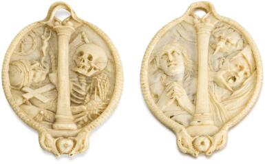ATTRIBUTED TO CHRISTOPH DANIEL SCHENCK (1633-1691) GERMAN, LAKE KONSTANZ, SECOND HALF 17TH CENTURY | Double-Sided Memento Mori Relief