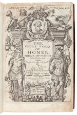 Homer, The whole works, translated by Chapman, London, [1616?], calf