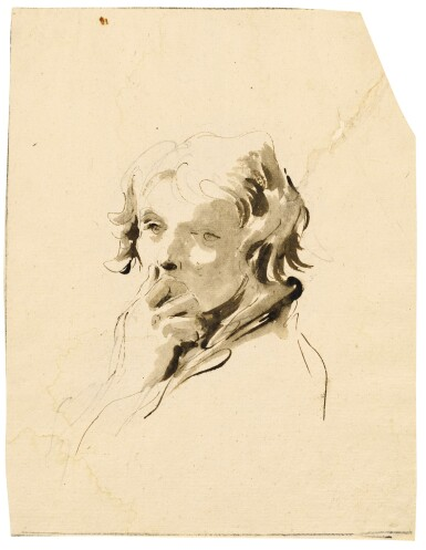 Study of a boy with his hand to his mouth